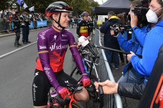 Jolien D'hoore (SD Worx) before the final race of her career, Paris-Roubaix