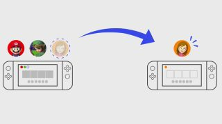how to transfer user data to a Nintendo Switch Lite