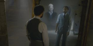 Johnny Depp and Jude Law as Grindelwald and Dumbledore in Fantastic Beasts