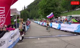 Primoz Roglic (Jumbo-Visma) soloed to the victory at the Slovenian Road National Championships