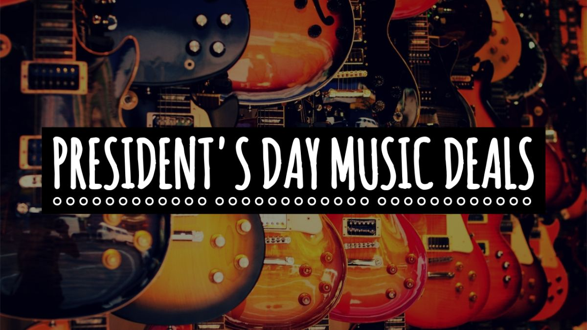 Save up to 60% on music gear in the Sweetwater, ProAudioStar, Musician's Friend and Guitar Center President's Day Sales