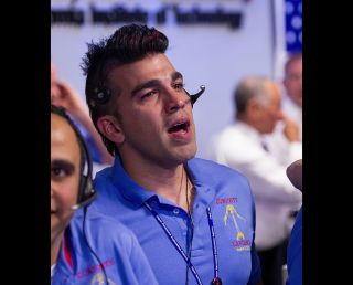 """Mohawk Guy"" Bobak Ferdowsi During Curiosity Rover's Landing"