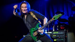 Steve Vai performs at the Ibanez PIA launch event in Anaheim, California