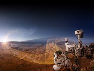 Mars manmade pollution