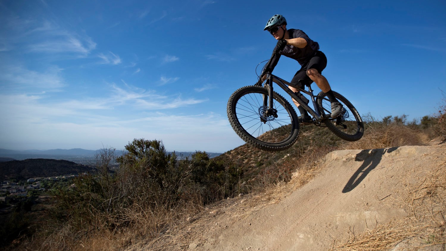 Getting air or descending steep trails at speed is where a mountain bike comes into its own