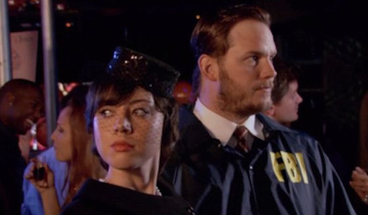Janet Snakehole and Burt Macklin in Parks and Recreation