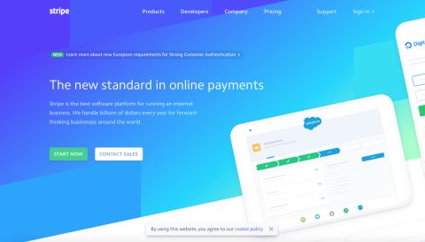 Stripe offers online payment processing for internet businesses
