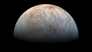 A submarine below the thick icy crust of Jupiter's Moon Europa would experience about the same pressure as a vehicle in the hadal zone.