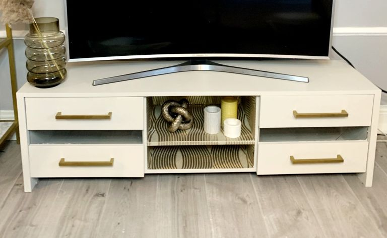upcycled TV cabinet DIY
