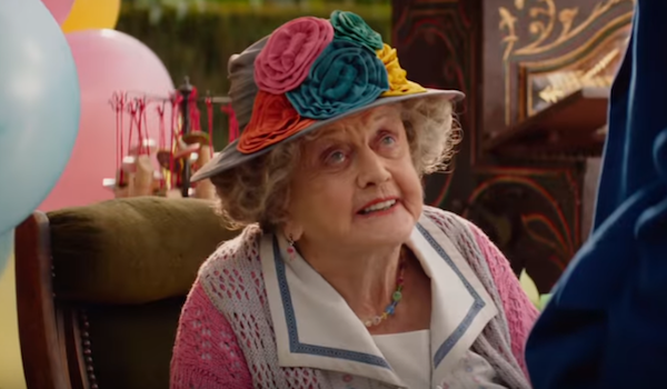 Angela Lansbury as the Balloon Lady in Mary Poppins Returns