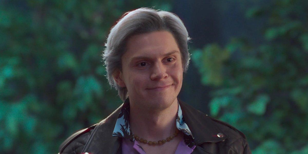 "Evan Peters as Pietro ""Quicksilver"" Maximoff on WandaVision"