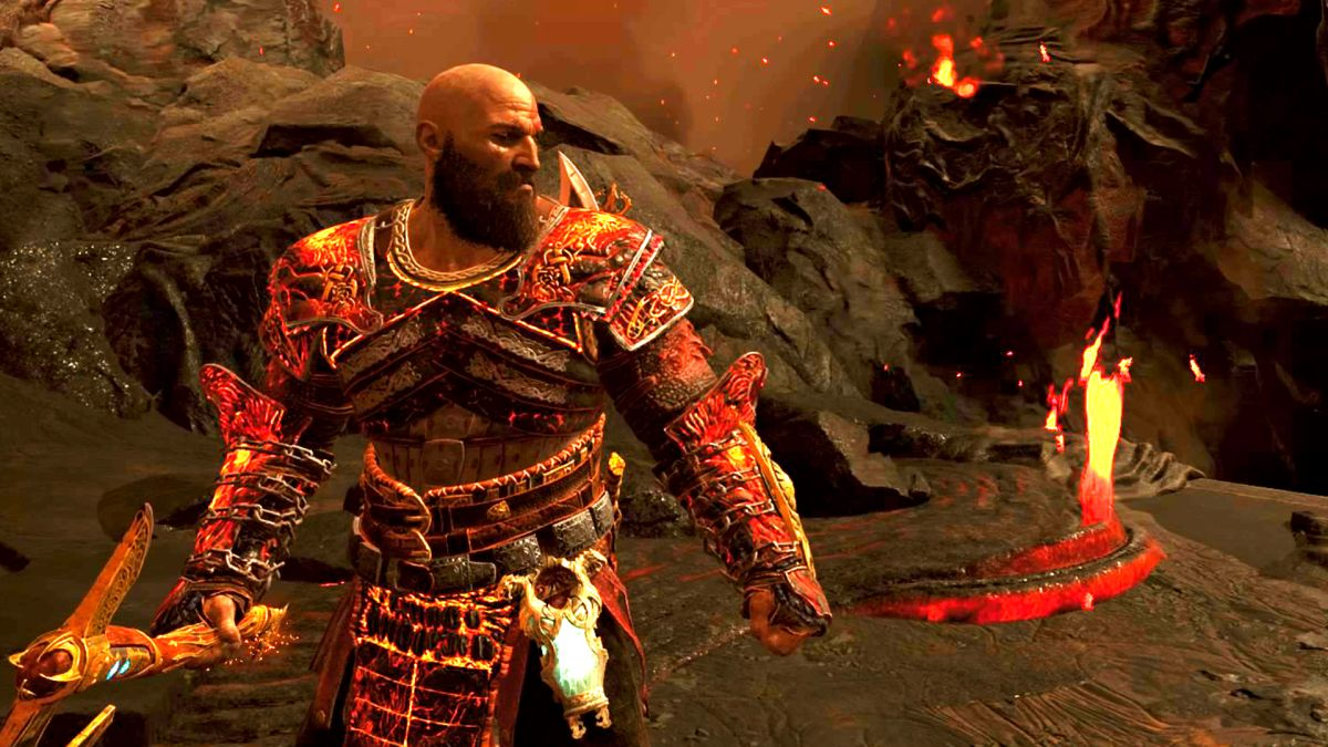 How to get the God of War Muspelheim fire armor without