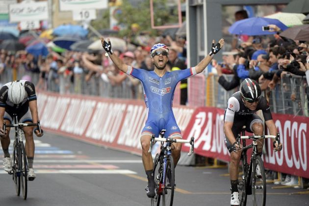 Nacer Bouhanni wins stage four of the 2014 Giro d'Italia