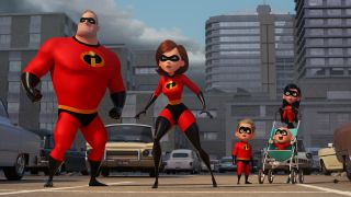 The Parr family ready for action in The Incredibles 2