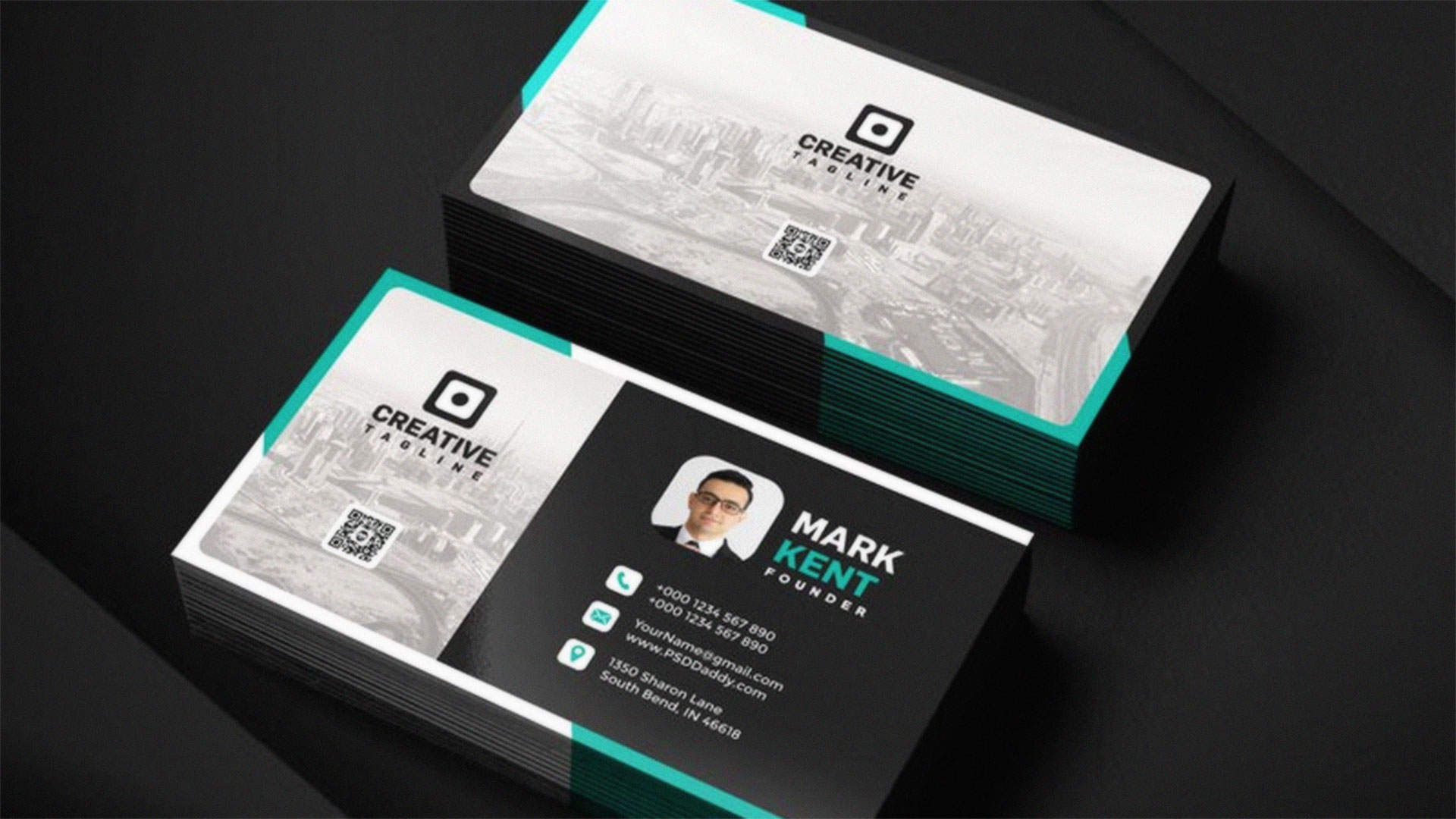 11 of the best free business card templates creative bloq wajeb Image collections