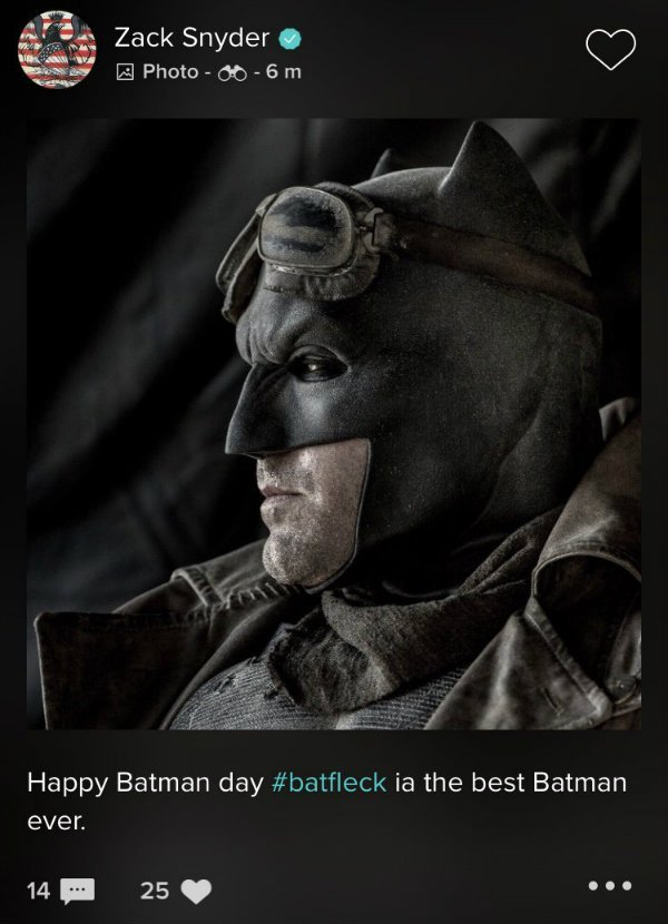 Knightmare Batman Batman Day Ben Affleck Zack Snyder