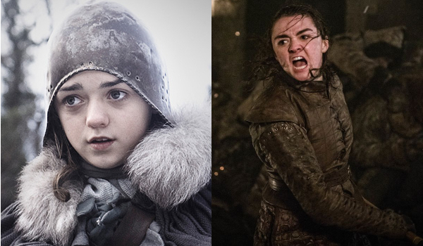 Game of Thrones Arya Stark Then and Now
