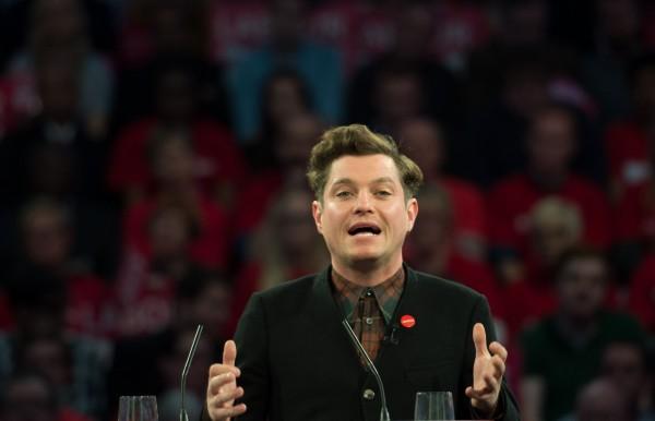 Matt Horne at a Labour rally
