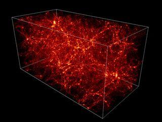 distribution of dark matter throughout the Universe