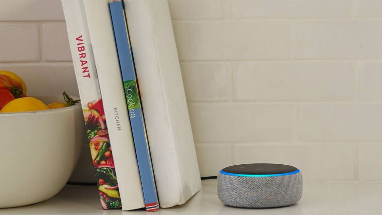 smart assistant styled next to books by john lewis & partners