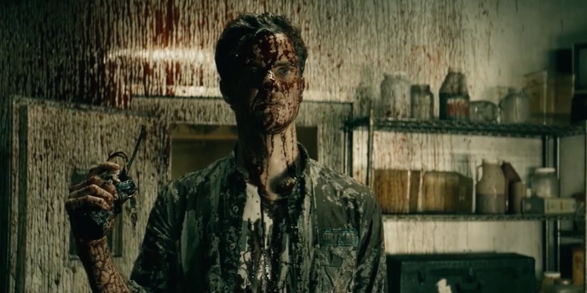 Jack Quaid as bloodied Hughie Campbell in The Boys