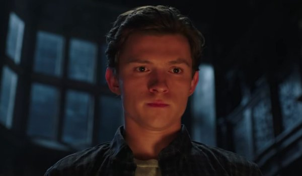 Spider-Man: Far From Home Peter stares into a fireplace, contemplating something