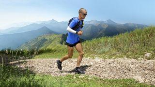 ultra runner wears garmin watch