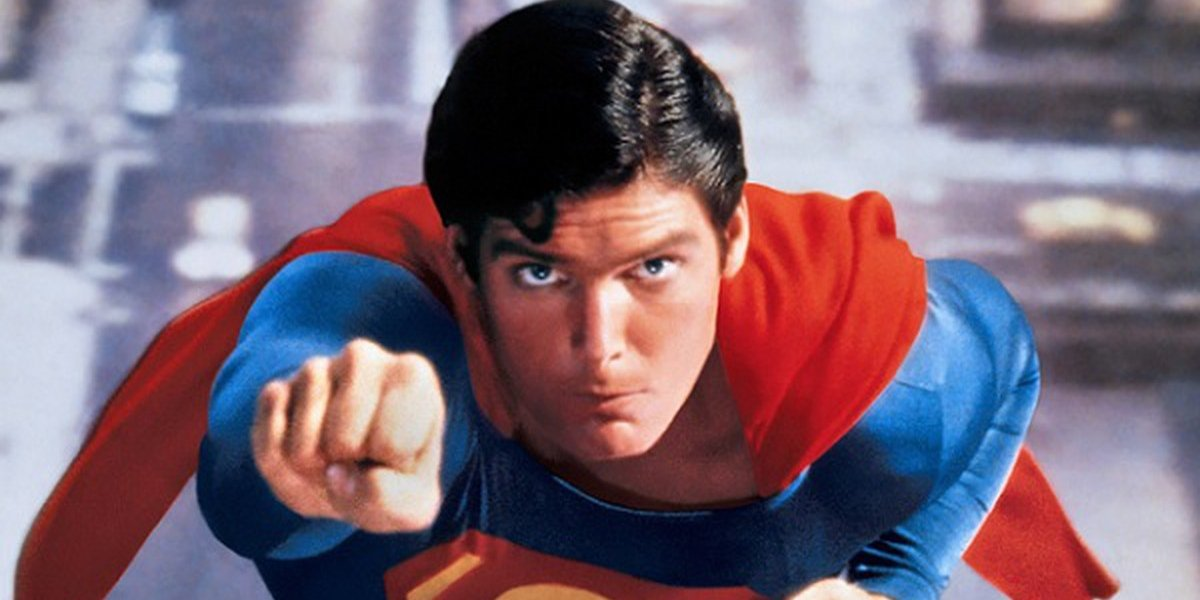 Christopher Reeve as the hero of the Oscar-winning Superman