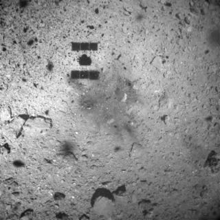 Japan's Hayabusa2 spacecraft captured this image of Ryugu as it rose from the surface