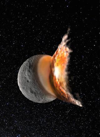Vesta Asteroid Collision Artist's Illustration