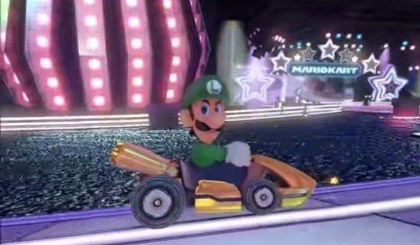 Luigi in a go cart