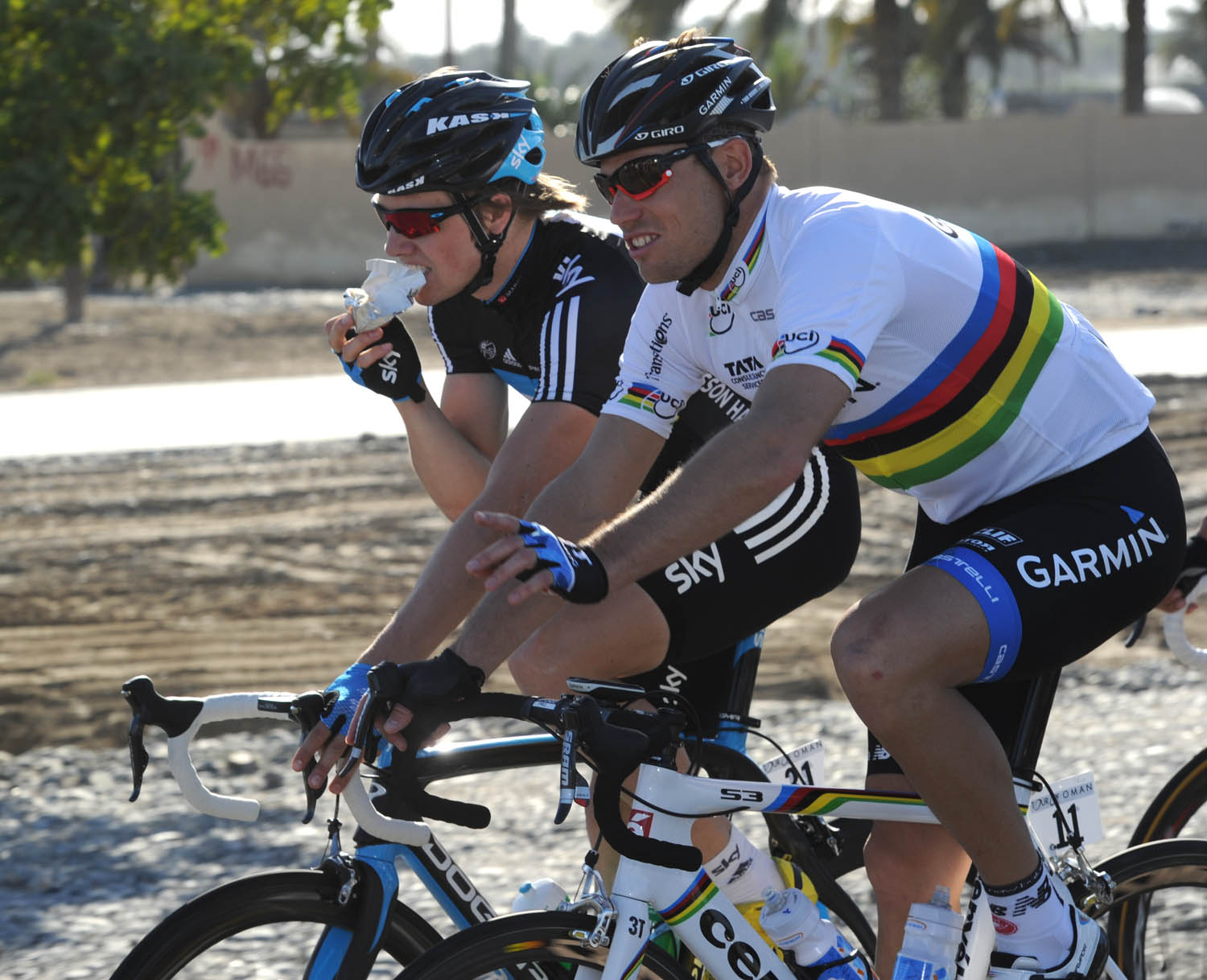 Thor Hushovd and Edvald Boasson Hagen, Tour of Oman 2011, stage one