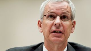 """Charles """"Charlie"""" Ergen, chairman and co-founder of Dish Network Corp., speaks during a House communications and technology subcommittee hearing in Washington, D.C., U.S., on Wednesday, June 27, 2012."""