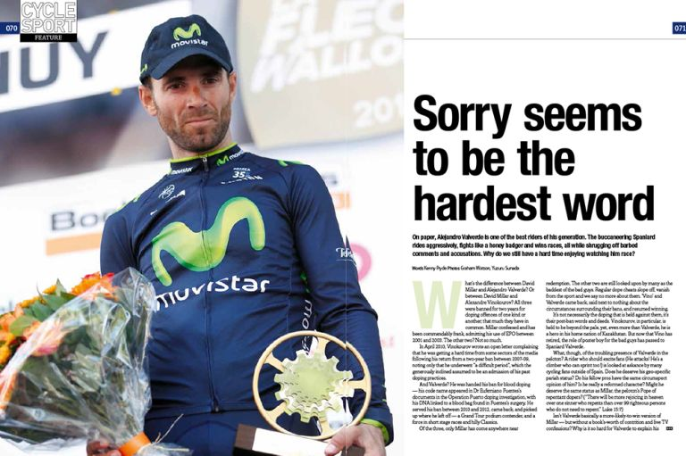 Sorry seems to be the hardest word for Alejandro Valverde