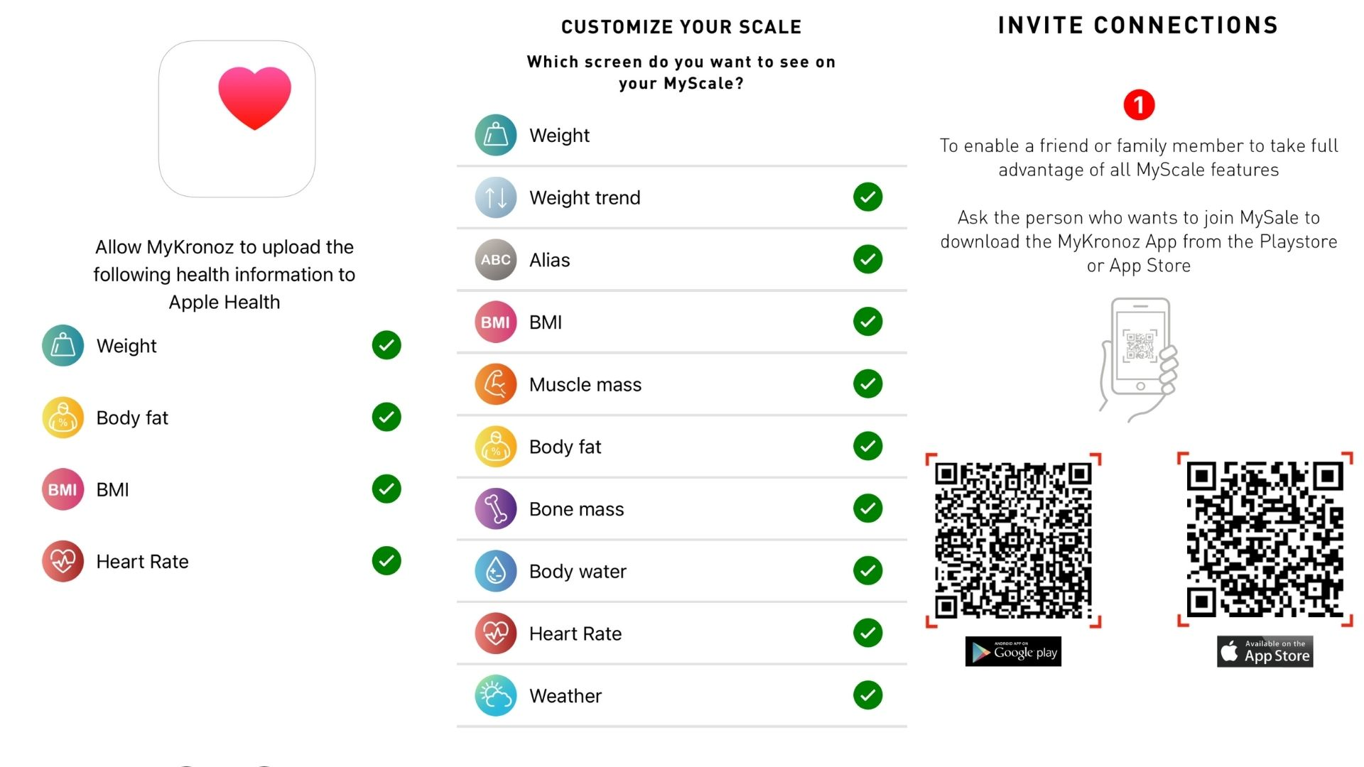 MyKronoz MyScale mobile app