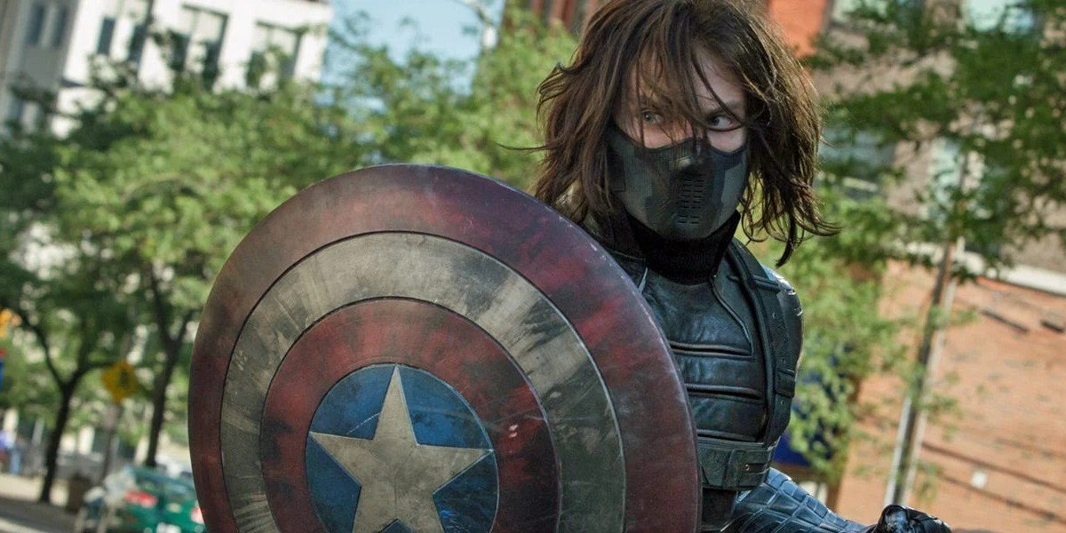 Bucky Barnes as the Winter Soldier in Captain America: The Winter Soldier.