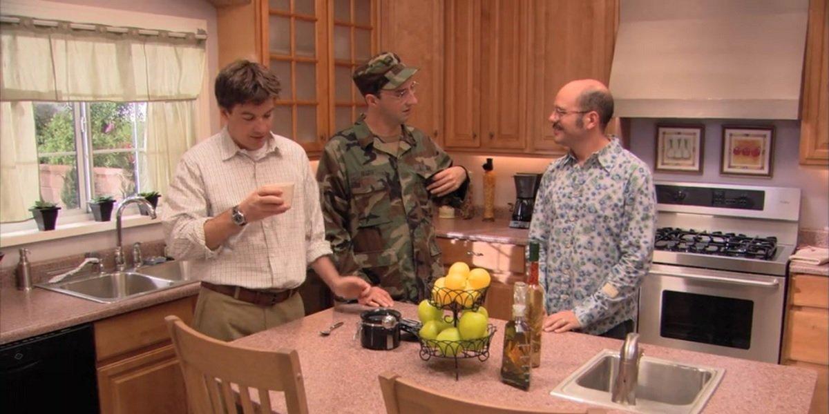 Tony Hale, Jason Bateman, and David Cross in Arrested Development