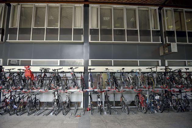 Communal bike park