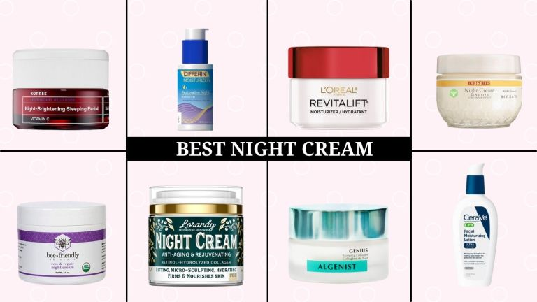 best night cream main collage of different products