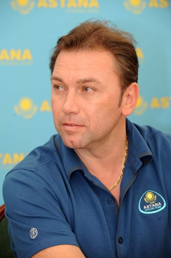 Johan Bruyneel Astana press conference Tenerife Dec 08