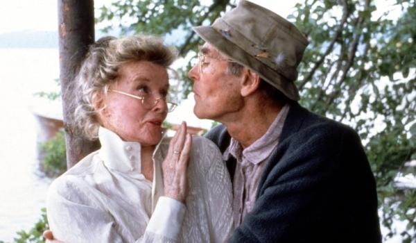 On Golden Pond Katharine Hepburn Henry Fonda share a sweet embrace