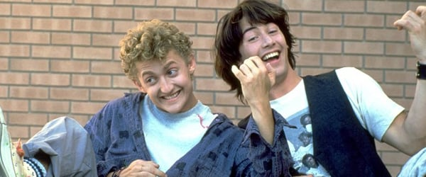 Alex Winter and Keanu Reeves smiling in a joint portrait