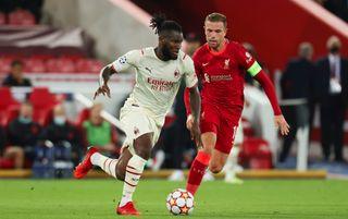 AC Milan midfielder Franck Kessie and Liverpool midfielder Jordan Henderson