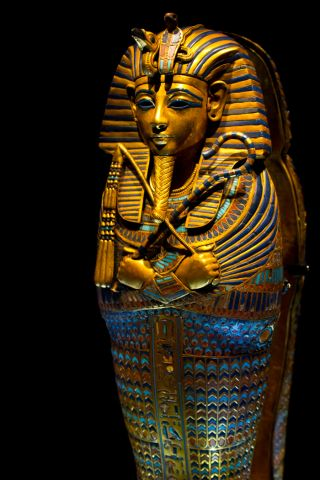 a canopic coffinette of King Tut.