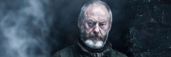 Davos is looking intensely.