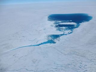A supraficial lake on the Greenland ice sheet