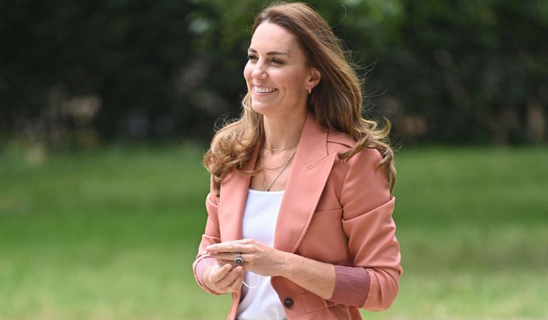 Kate Middleton, Duchess of Cambridge arrives at The Natural History Museum on June 22, 2021 in London, England.