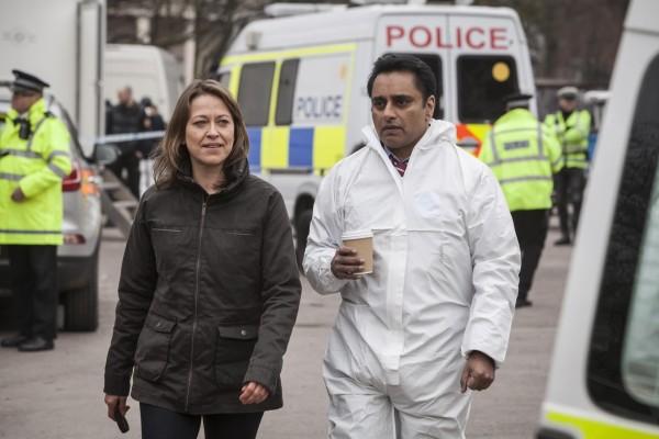 Sanjeev Bhaskar and Nicola Walker in Unforgotten