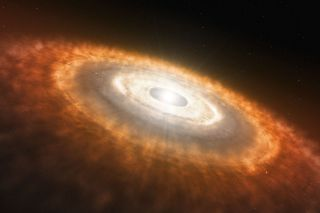 Baby Dtar Surrounded by a Protoplanetary Disc