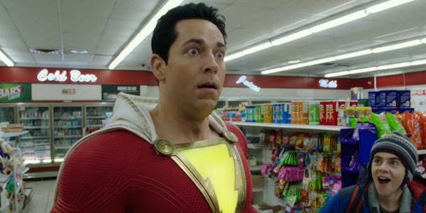 Zachary Levi as Shazam! in full costume
